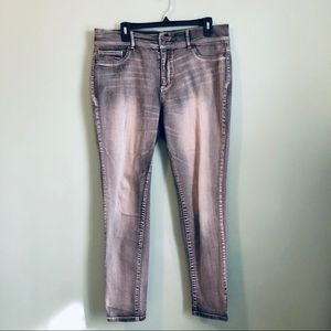 Faded Wash Gray Jeans